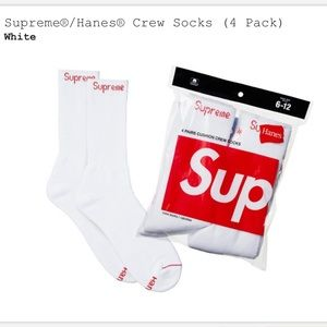 Supreme White Socks
